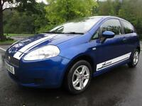 08/08 FIAT PUNTO ACTIVE 1.2 3DR HATCH IN MET BLUE WITH ONLY 29,000 MILES