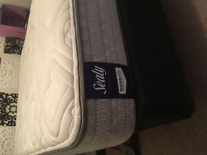 Double bed mattress, box spring and frame for sale