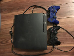 PS3, 2 controllers and 9 games