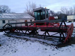 Massey 885 swather