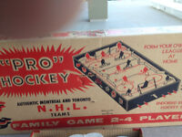 NHL table game from 1958 original 8 with box silent auction on