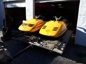 1989 Ski-Doo Safari 377 & Tilt'n Load Trailer w/OWNERSHIPS