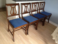Four beautiful Antique Dining Chairs
