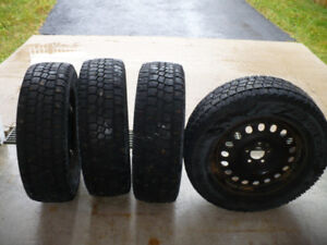 P235/65R17 Studded Winter Tires on Rims