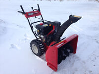 """Hardly used Yard Machine 28"""" snowblower with electric start"""