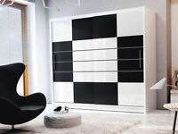 **7-DAY MONEY BACK GUARANTEE!**- Arabia Sliding Door Wardrobe - SAME/NEXT DAY DELIVERY!