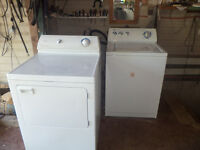 super capacity washer and dryer  /  4 years