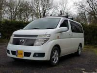 Nissan Elgrand E51 with professional campervan conversion