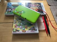 Yoshi 3DS XL Special Edition Console and 3 games