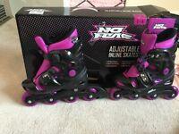 No fear Adjustable inline skates 1-4 size