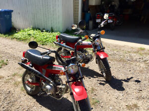 2 CT70 Motorbikes / Minibikes for sale.  Perfect for RV'ers.