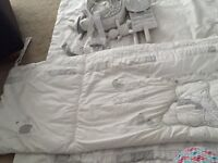 Matching bedding set for cot (5 items)