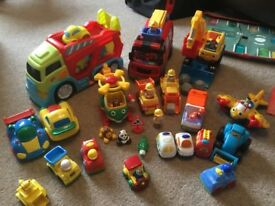 Collection of baby/toddler cars