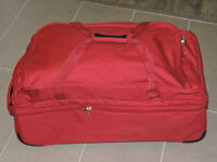 ROLLING RED DUFFLE BAG