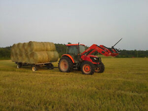 Hay For Sale - 4X4 Rounds of Hay and Straw - Stored Inside