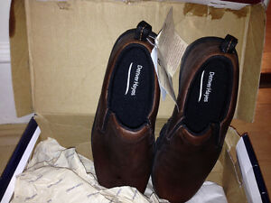 Denver Hayes new brown leather slip on shoes