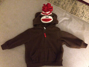 6-12 months cute monkey fleece hoodie Old Navy