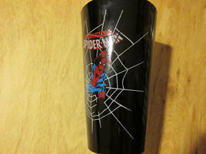 Marvel Comics AMAZING SPIDER-MAN Black Drinking Glass 2013