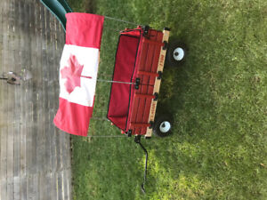 Little red wagon (wooden)