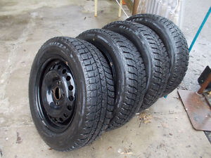 185 65 15 WINTER TIRES WITH RIMS, 4 BOLTS ,4X114.3 PATTERNS