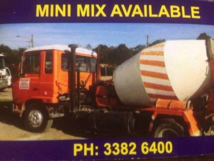 mini mix cement $200 per cubic metre and  landscape supplies
