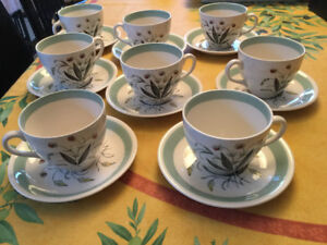 Alfred Meakin Hedgerow England 1950 - 8 secoupes et 8 tasses
