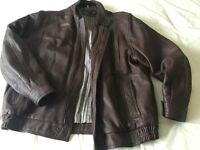 Men's vintage leather jacket - medium