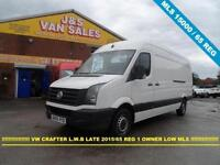 2015 65 VOLKSWAGEN CRAFTER 2.0 CR35 TDI H/R L.W.B LATE 2015 / 65 REG 1 LEASE OWN