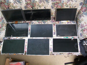 Bundle Lot of nine 9 various LCD screen panels from old laptops