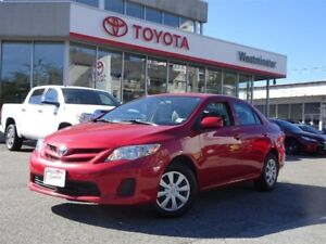 Toyota Corolla Convenience Package 2012
