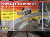 FOLDABLE STEEL RAMP SET - STILL IN BOX!! REG. Price $220