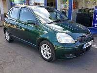 2002 TOYOTA YARIS D-4D T SPIRIT TURBO DIESEL £30 ROAD TAX FULL HISTORY