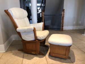 Dutalier Sleigh Glider and Ottoman, for nursing or just relaxing