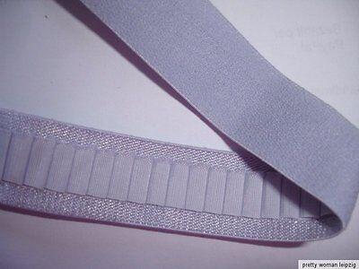 10m Gummiband 0,26€/m taubenblau Trägerband, 20mm breit  IF28