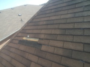 Professional roofing services, missing shingles, leak repairs
