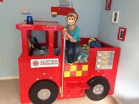 HANDMADE FIRE ENGINE BED TODDLER COT BED