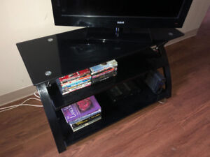 BLACK 3-SHELF MEDIA STAND
