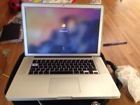 MacBook Pro 15 inch working with 2 month warranty - 1 keys missing