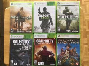 Civilisation Revolution, Black Ops 3, Call of Duty MW3..