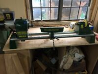 Record power DML185H wood turning lathe.