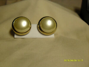 7. Vintage Clipon Earrings - Large round Pearl
