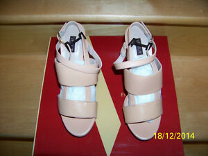 velika leather women's shoes color samon size 6us 7.5us new