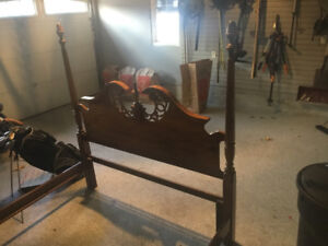 four poster cherry headboard and footboard