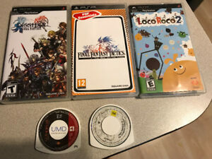 PSP Games - FF4, Tactics, Dissidia, Loco Roco 2, & God of War