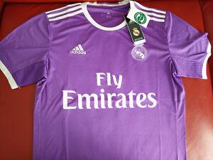 Real Madrid 2016-2017 Away Purple Jersey Adidas