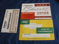 1962 Chevrolet Original Owners Manuals