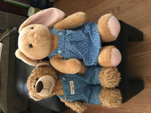 Last minute Easter gifts. What about a cuddly bear and rabbit?