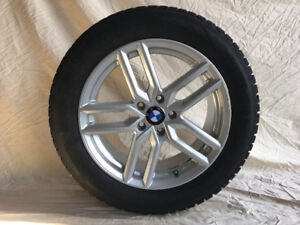 BMW X1 winter times on alloy rims