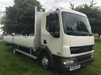 DAF LF45.160 7.5T New 20ft Dropside Body, New Mot, Very Clean Cab, Low Mileage