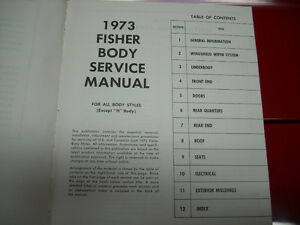 1973 Fisher Body service manual Peterborough Peterborough Area image 10